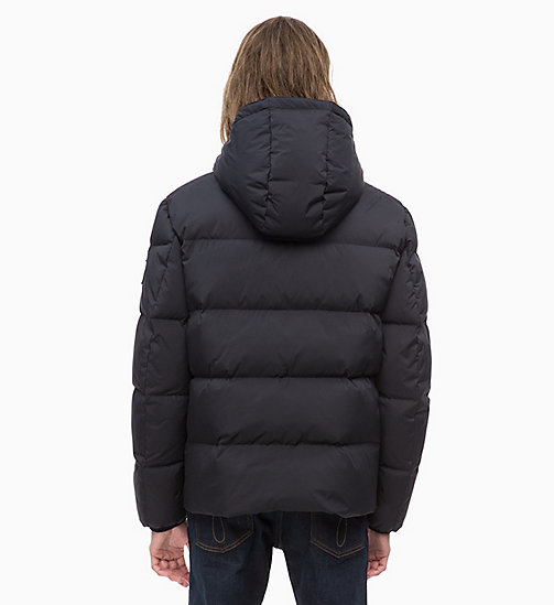 CALVIN KLEIN JEANS Hooded Down Jacket - CK BLACK - CALVIN KLEIN JEANS IN THE THICK OF IT FOR HIM - detail image 1