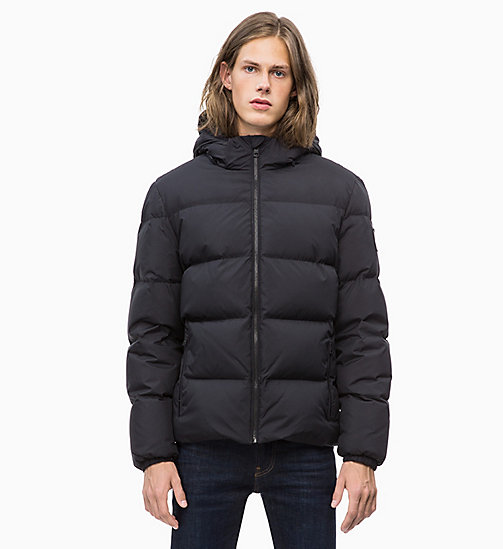 CALVIN KLEIN JEANS Hooded Down Jacket - CK BLACK - CALVIN KLEIN JEANS IN THE THICK OF IT FOR HIM - main image