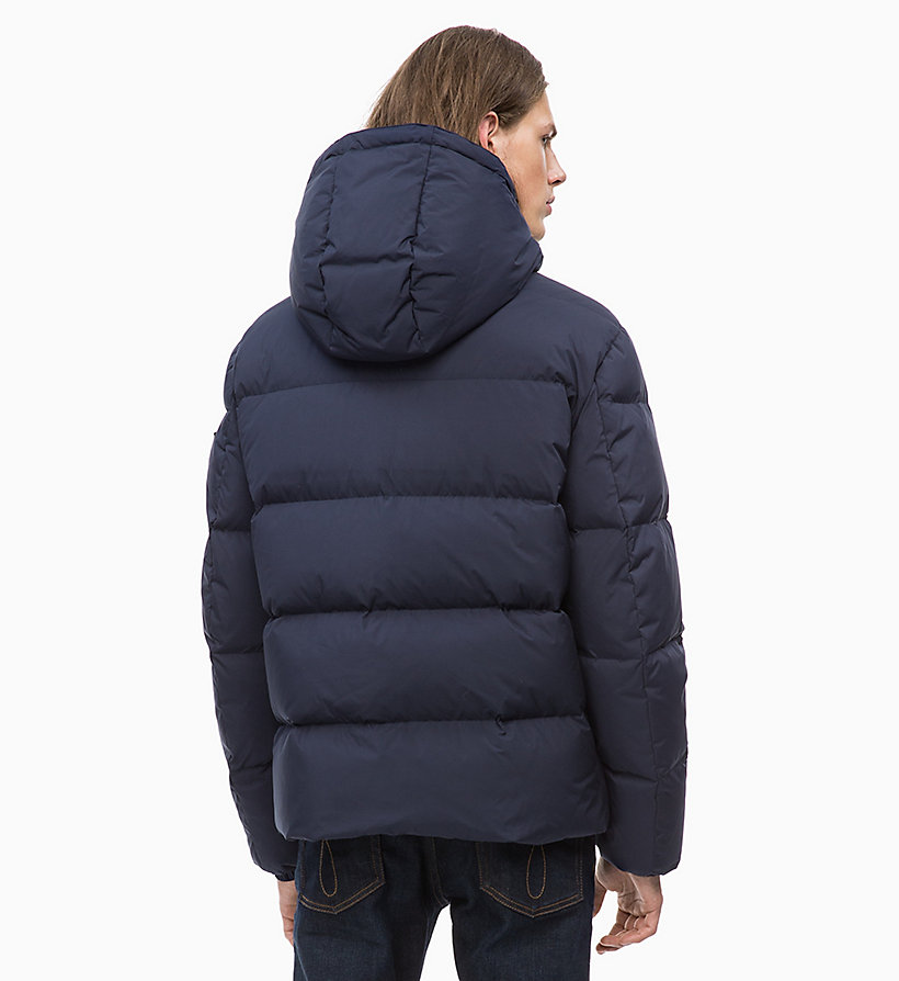 CALVIN KLEIN JEANS Hooded Down Jacket - SURF THE WEB - CALVIN KLEIN JEANS MEN - detail image 1