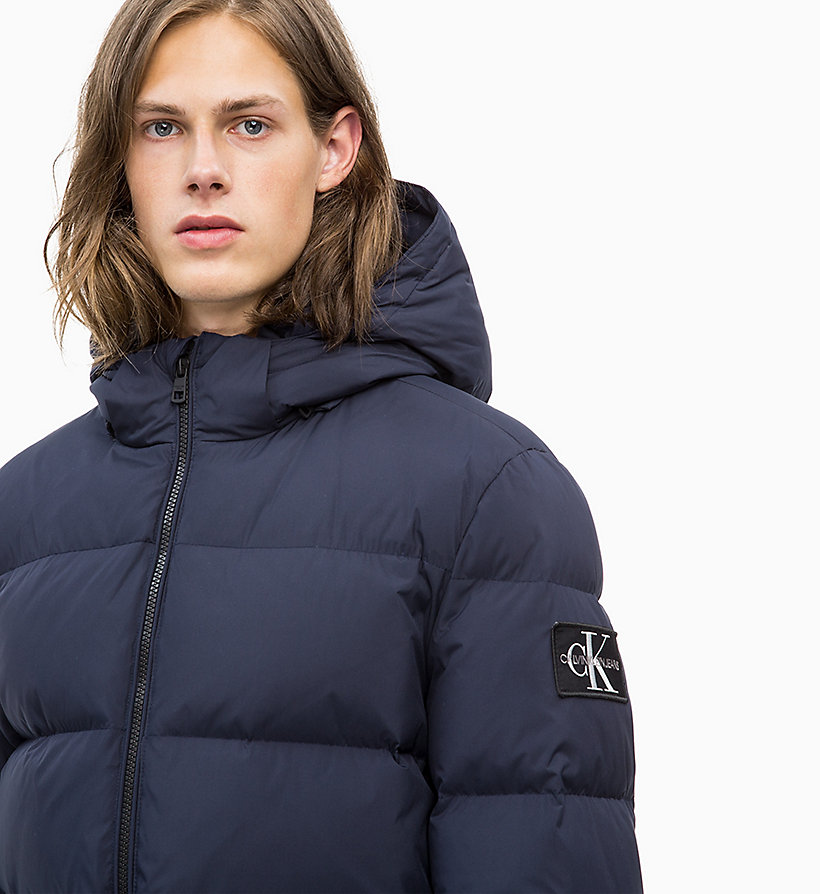 CALVIN KLEIN JEANS Hooded Down Jacket - SURF THE WEB - CALVIN KLEIN JEANS MEN - detail image 2