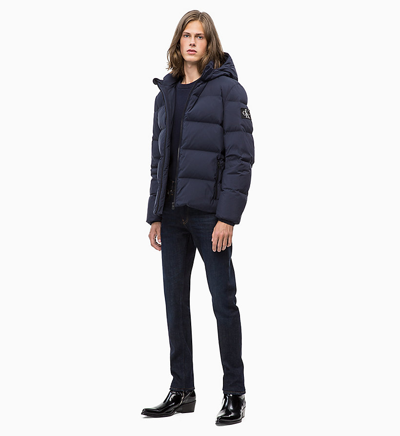 CALVIN KLEIN JEANS Hooded Down Jacket - SURF THE WEB - CALVIN KLEIN JEANS MEN - detail image 3