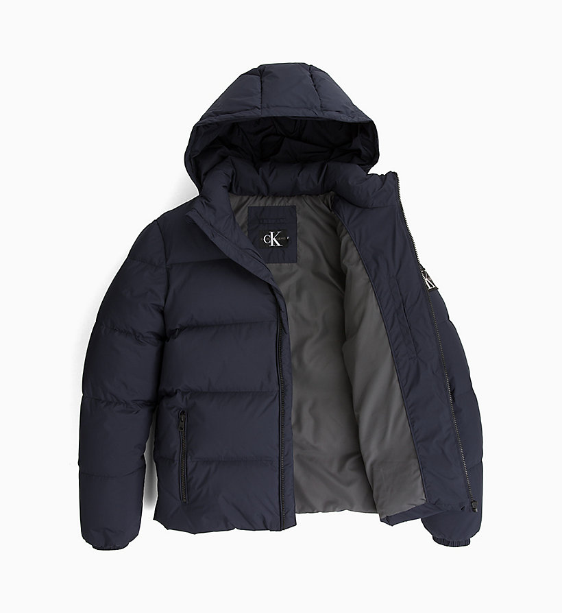 CALVIN KLEIN JEANS Hooded Down Jacket - SURF THE WEB - CALVIN KLEIN JEANS MEN - detail image 4