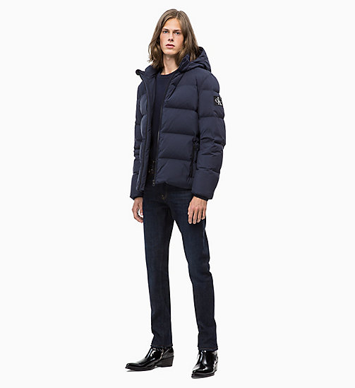 CALVIN KLEIN JEANS Hooded Down Jacket - NIGHT SKY - CALVIN KLEIN JEANS IN THE THICK OF IT FOR HIM - detail image 1
