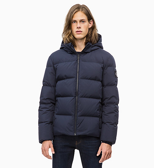 CALVIN KLEIN JEANS Hooded Down Jacket - NIGHT SKY - CALVIN KLEIN JEANS IN THE THICK OF IT FOR HIM - main image