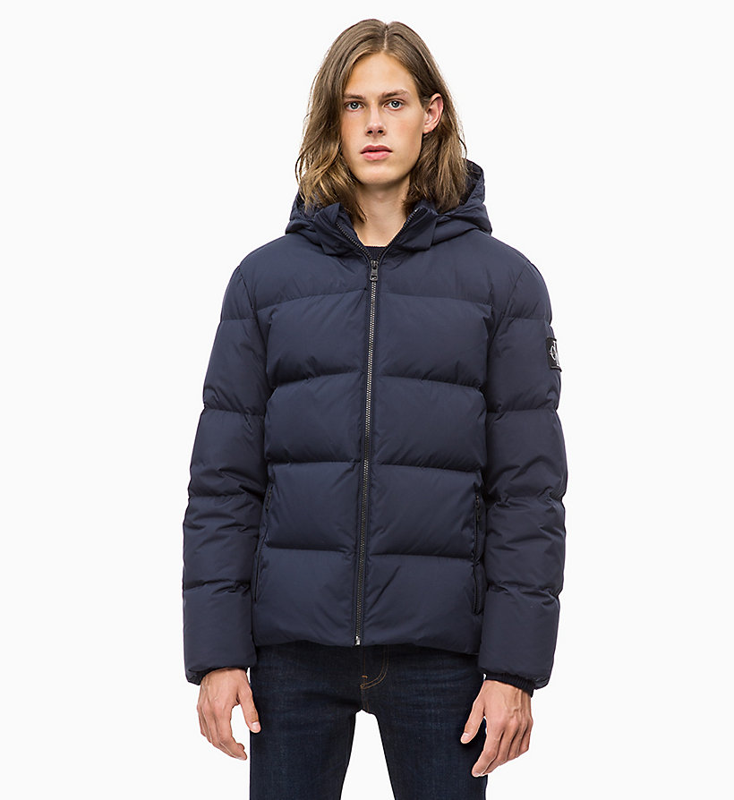 CALVIN KLEIN JEANS Hooded Down Jacket - SURF THE WEB - CALVIN KLEIN JEANS MEN - main image