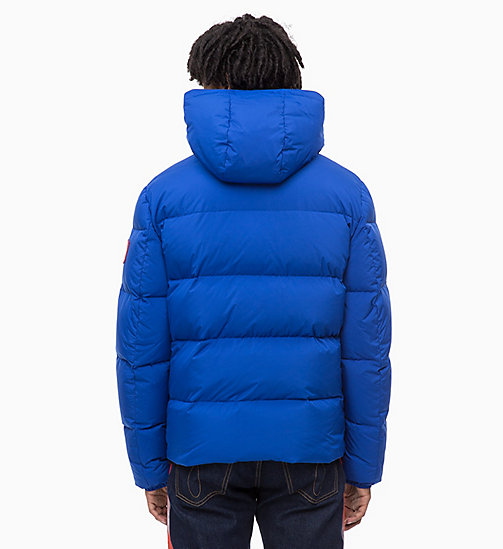 CALVIN KLEIN JEANS Hooded Down Jacket - SURF THE WEB - CALVIN KLEIN JEANS IN THE THICK OF IT FOR HIM - detail image 1