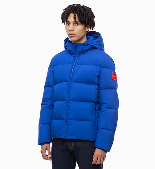CALVIN KLEIN JEANS Hooded Down Jacket - SURF THE WEB - CALVIN KLEIN JEANS IN THE THICK OF IT FOR HIM - main image