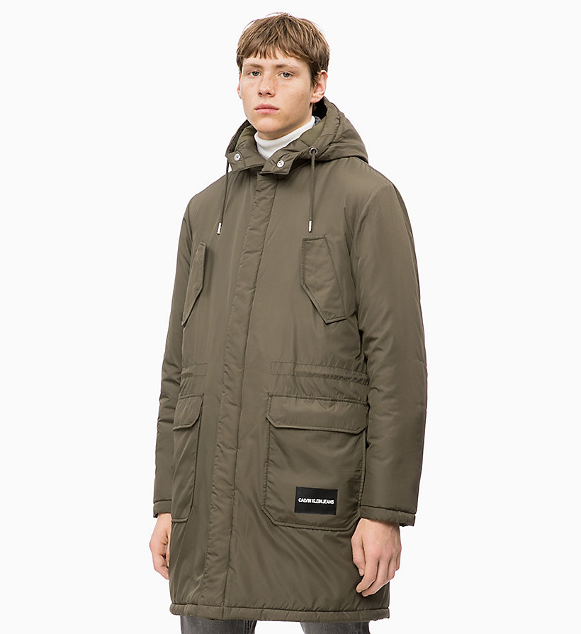 CALVIN KLEIN JEANS Lightweight Padded Parka Jacket - NIGHT SKY - CALVIN KLEIN JEANS MEN - main image