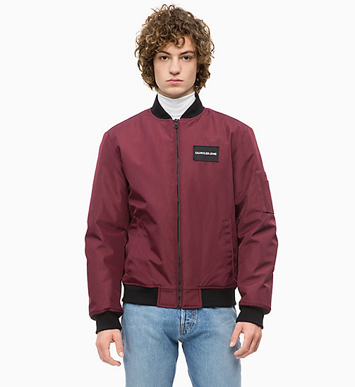 CALVIN KLEIN JEANS Canvas Bomber Jacket - TAWNY PORT - CALVIN KLEIN JEANS The New Off-Duty - main image