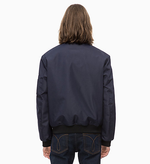 CALVIN KLEIN JEANS Canvas Bomber Jacket - NIGHT SKY - CALVIN KLEIN JEANS The New Off-Duty - detail image 1