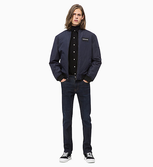 CALVIN KLEIN JEANS Canvas-Bomberjacke - NIGHT SKY - CALVIN KLEIN JEANS The New Off-Duty - main image 1