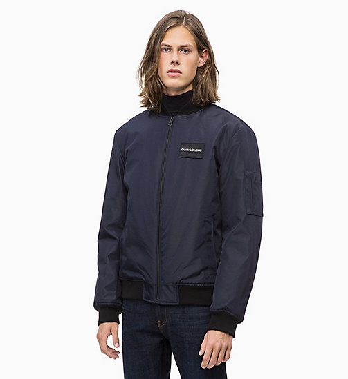 CALVIN KLEIN JEANS Canvas Bomber Jacket - NIGHT SKY - CALVIN KLEIN JEANS The New Off-Duty - main image