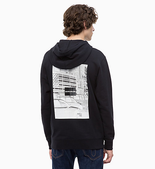 CALVIN KLEIN JEANS Printed Hoodie - CK BLACK - CALVIN KLEIN JEANS The New Off-Duty - detail image 1