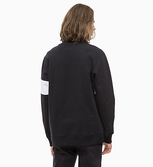 CALVIN KLEIN JEANS Stripe Logo Zip Neck Sweatshirt - CK BLACK - CALVIN KLEIN JEANS The New Off-Duty - detail image 1