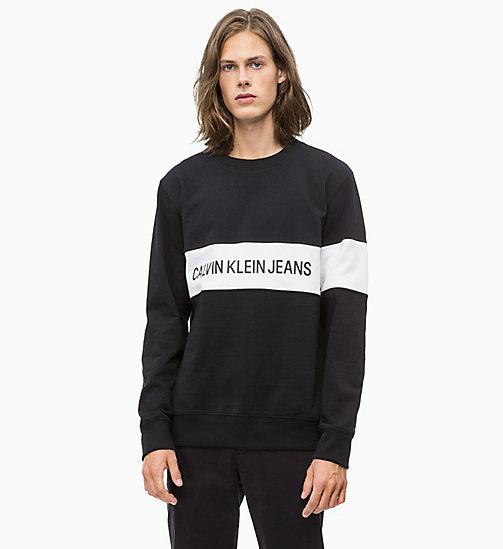 -50% CALVIN KLEIN JEANS Sweat-shirt à rayures avec logo - CK BLACK - CALVIN  KLEIN ... 572fd163b616