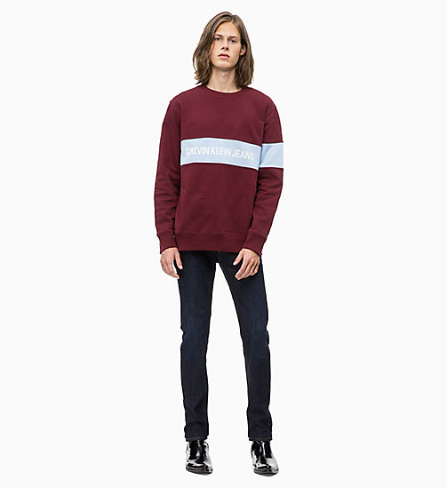 CALVIN KLEIN JEANS Stripe Logo Sweatshirt - TAWNY PORT - CALVIN KLEIN JEANS The New Off-Duty - detail image 1