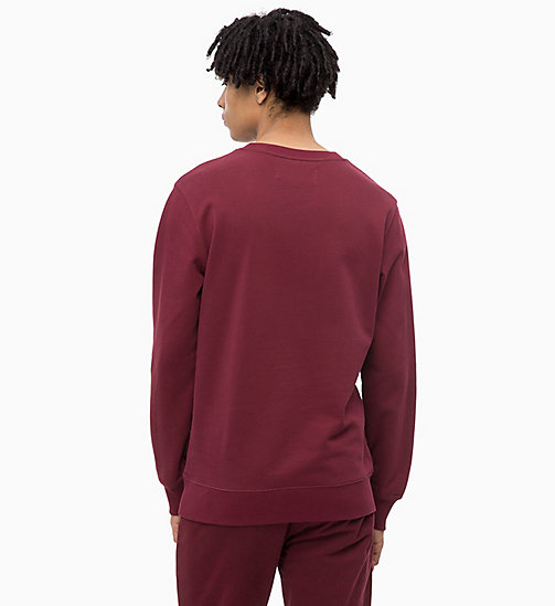 CALVIN KLEIN JEANS Printed Sweatshirt - TAWNY PORT - CALVIN KLEIN JEANS The New Off-Duty - detail image 1
