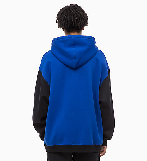 CALVIN KLEIN JEANS Colour Block Zip-Through Hoodie - CK BLACK - CALVIN KLEIN JEANS FALL DREAMS - detail image 1