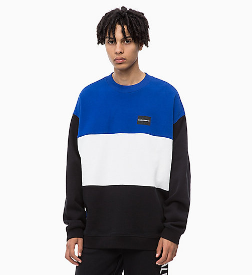 CALVIN KLEIN JEANS Oversized Colour Block Sweatshirt - CK BLACK - CALVIN KLEIN JEANS FALL DREAMS - main image