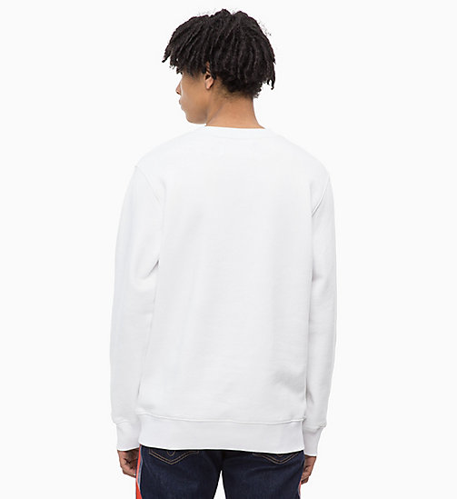 CALVIN KLEIN JEANS Printed Sweatshirt - BRIGHT WHITE -  NEW IN - detail image 1