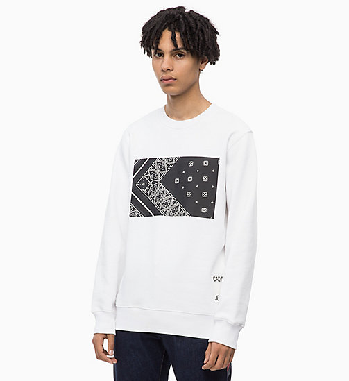CALVIN KLEIN JEANS Printed Sweatshirt - BRIGHT WHITE - CALVIN KLEIN JEANS NEW IN - main image