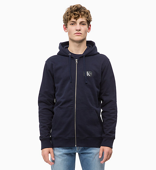 CALVIN KLEIN JEANS Zip-Through Hoodie - NIGHT SKY - CALVIN KLEIN JEANS FALL DREAMS - main image