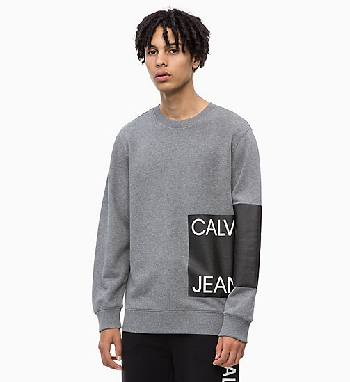 CALVIN KLEIN JEANS Sweat-shirt avec logo - GREY HEATHER - CALVIN KLEIN JEANS BOLD GRAPHICS - image principale