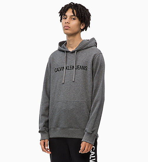 CALVIN KLEIN JEANS Logo Hoodie - GREY HEATHER - CALVIN KLEIN JEANS The New Off-Duty - main image
