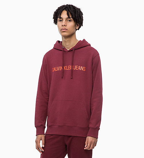 CALVIN KLEIN JEANS Logo Hoodie - TAWNY PORT - CALVIN KLEIN JEANS The New Off-Duty - main image