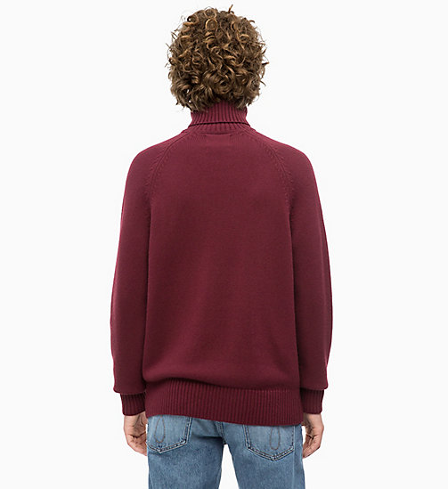 CALVIN KLEIN JEANS Wool Blend Turtleneck Jumper - TAWNY PORT - CALVIN KLEIN JEANS The New Off-Duty - detail image 1