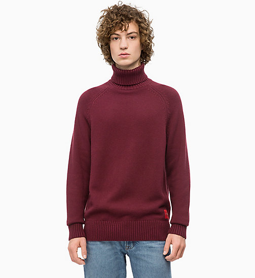 CALVIN KLEIN JEANS Wool Blend Turtleneck Jumper - TAWNY PORT - CALVIN KLEIN JEANS The New Off-Duty - main image