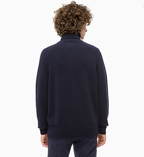 CALVIN KLEIN JEANS Wool Blend Turtleneck Jumper - NIGHT SKY - CALVIN KLEIN JEANS The New Off-Duty - detail image 1