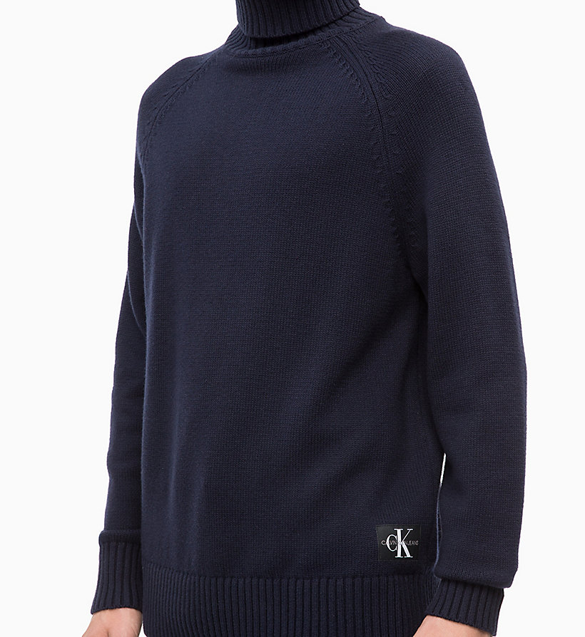 CALVIN KLEIN JEANS Wool Blend Turtleneck Jumper - TAWNY PORT - CALVIN KLEIN JEANS MEN - detail image 2