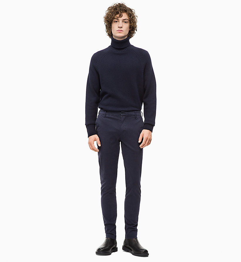 CALVIN KLEIN JEANS Wool Blend Turtleneck Jumper - TAWNY PORT - CALVIN KLEIN JEANS MEN - detail image 3
