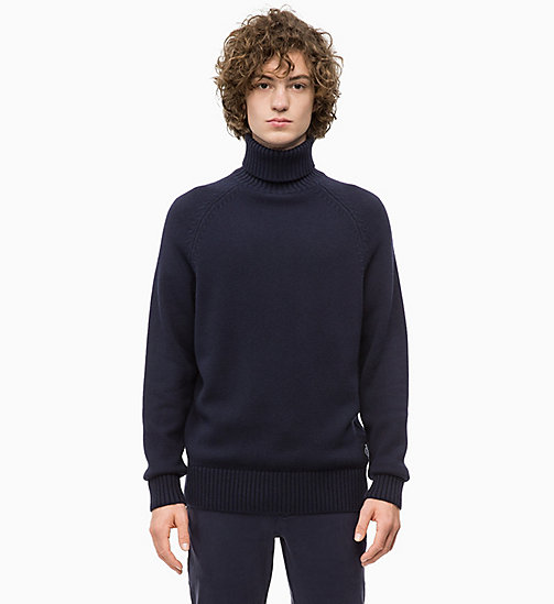 CALVIN KLEIN JEANS Wool Blend Turtleneck Jumper - NIGHT SKY - CALVIN KLEIN JEANS The New Off-Duty - main image