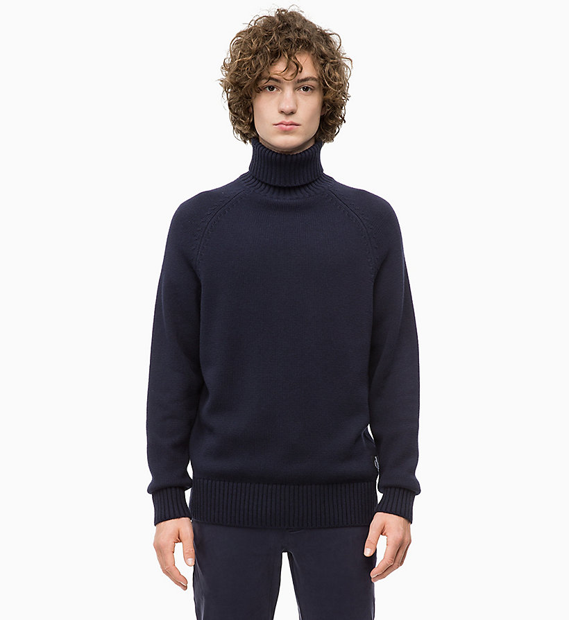 CALVIN KLEIN JEANS Wool Blend Turtleneck Jumper - TAWNY PORT - CALVIN KLEIN JEANS MEN - main image