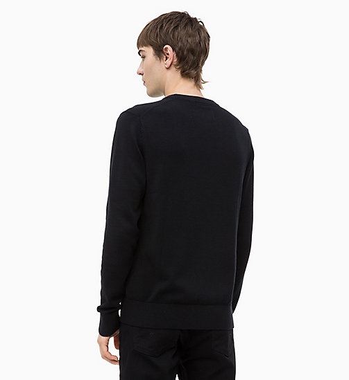 CALVIN KLEIN JEANS Combed Cotton Logo Jumper - CK BLACK - CALVIN KLEIN JEANS NEW IN - detail image 1