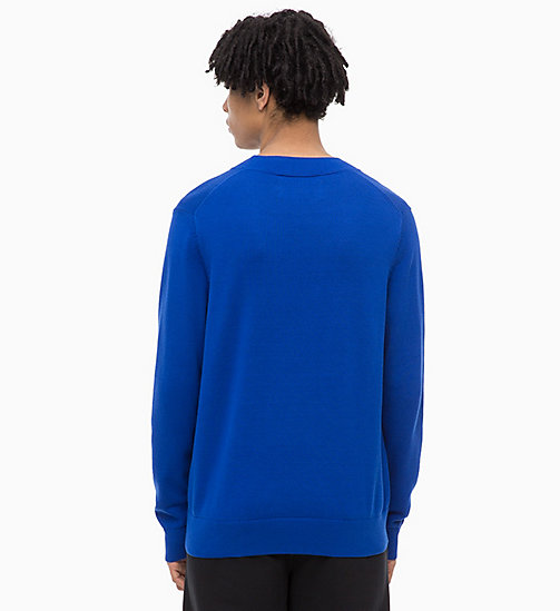 CALVIN KLEIN JEANS Combed Cotton Logo Jumper - SURF THE WEB - CALVIN KLEIN JEANS NEW IN - detail image 1