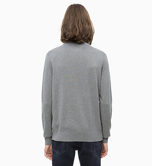 CALVIN KLEIN JEANS Baumwoll-Kaschmir-Sweater - GREY HEATHER - CALVIN KLEIN JEANS NEW IN - main image 1