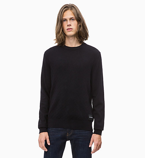 CALVIN KLEIN JEANS Cotton Cashmere Jumper - CK BLACK - CALVIN KLEIN JEANS NEW IN - main image