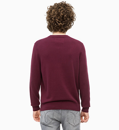 CALVIN KLEIN JEANS Cotton Cashmere Jumper - TAWNY PORT - CALVIN KLEIN JEANS NEW IN - detail image 1