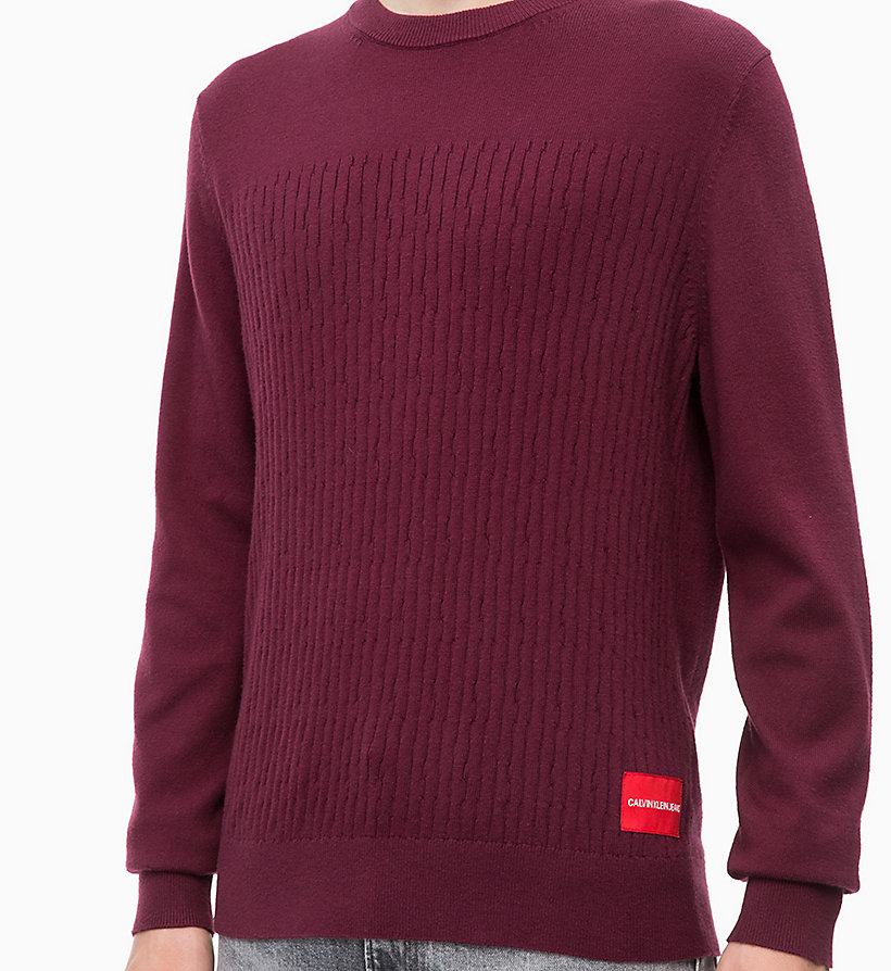 CALVIN KLEIN JEANS Cotton Cashmere Jumper - GREY HEATHER - CALVIN KLEIN JEANS MEN - detail image 2
