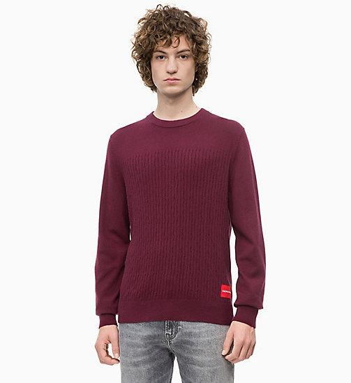 CALVIN KLEIN JEANS Cotton Cashmere Jumper - TAWNY PORT -  NEW IN - main image