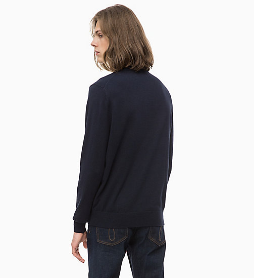 CALVIN KLEIN JEANS Cotton Cashmere Jumper - NIGHT SKY - CALVIN KLEIN JEANS MEN - detail image 1