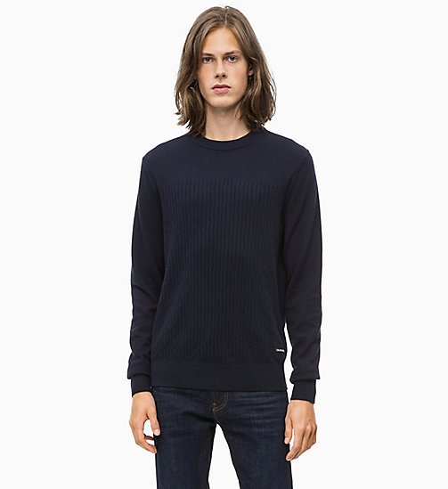 CALVIN KLEIN JEANS Cotton Cashmere Jumper - NIGHT SKY - CALVIN KLEIN JEANS MEN - main image