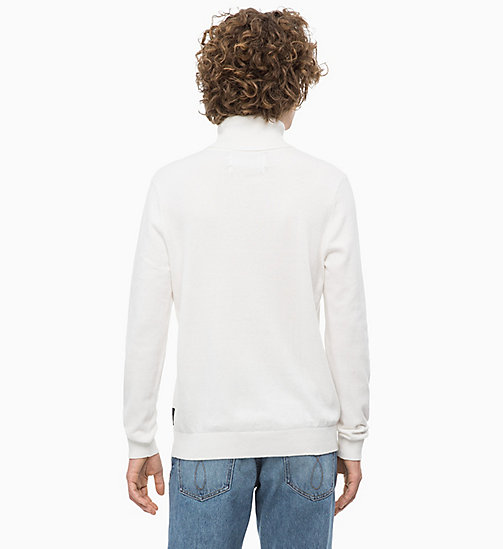 CALVIN KLEIN JEANS Cotton Cashmere Turtleneck Jumper - EGRET - CALVIN KLEIN JEANS IN THE THICK OF IT FOR HIM - detail image 1