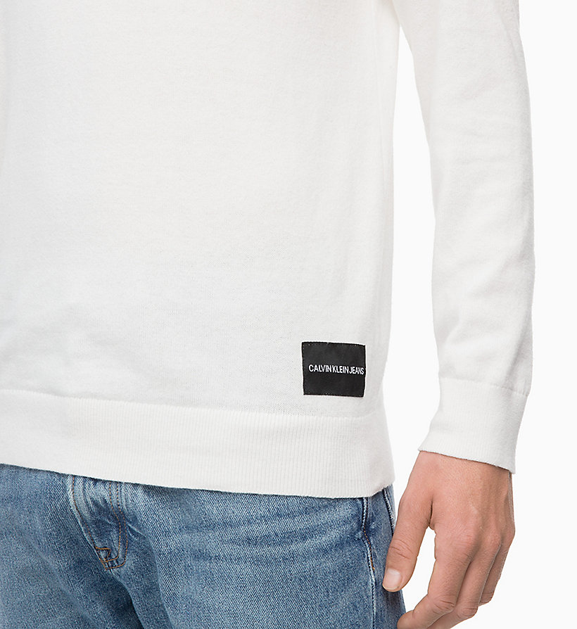 CALVIN KLEIN JEANS Cotton Cashmere Turtleneck Jumper - CK BLACK - CALVIN KLEIN JEANS MEN - detail image 2