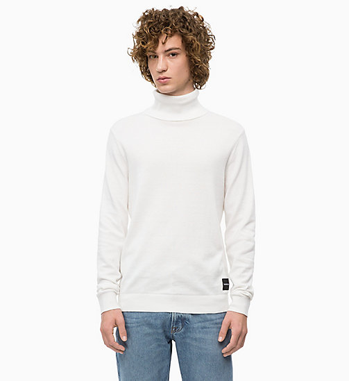 CALVIN KLEIN JEANS Cotton Cashmere Turtleneck Jumper - EGRET - CALVIN KLEIN JEANS IN THE THICK OF IT FOR HIM - main image