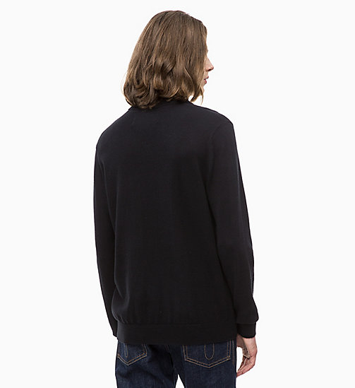 CALVIN KLEIN JEANS Felpa a collo alto in cachemire di cotone - CK BLACK - CALVIN KLEIN JEANS IN THE THICK OF IT FOR HIM - dettaglio immagine 1