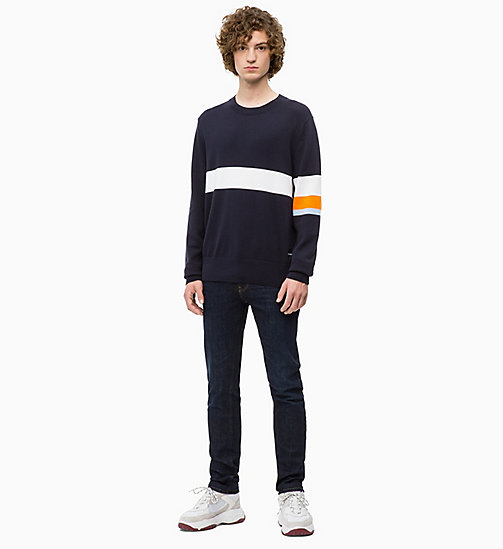 CALVIN KLEIN JEANS Contrast Stripe Jumper - NIGHT SKY - CALVIN KLEIN JEANS The New Off-Duty - detail image 1